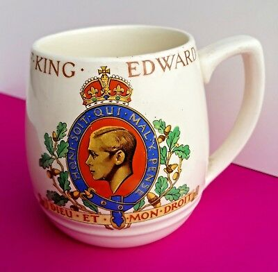 Antique Retired Myott King Edward VIII Coronation Mug 1937 Lovely Old Item
