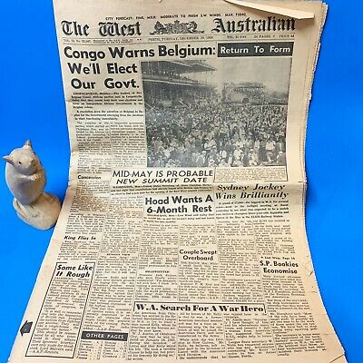 Complete Vintage West Australian Newspaper - Perth, Tuesday 29th December 1959