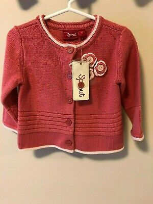 BRAND NEW Sprout Baby Girl Size 1 Cardigan - Bright Pink