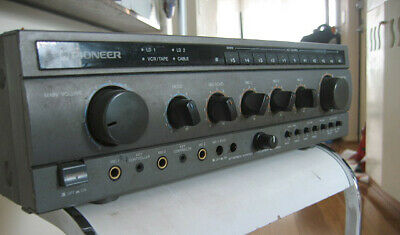 Pioneer Vintage Karaoke Power Amplifier Pitch Change Key Control Echo SA-V300 1