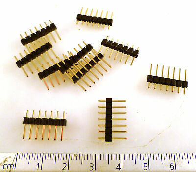 Multicomp Pin Header 2211S-07G Easy Snap 7 Way Gold Plated 25 Pieces OM0971B