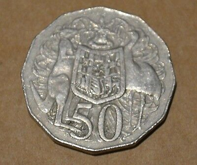 1973 Circulated Australian 50 Cent Coin - Low Mintage