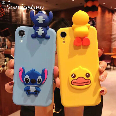 3D Cartoon Animal Soft Silicon Case Phone Back Cover Skin For Huawei Phone Shell