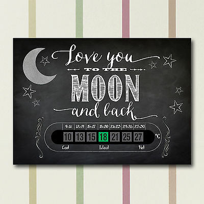LOVE YOU TO THE MOON AND BACK ROOM THERMOMETER  /& SHEEP BATH THERMOMETER