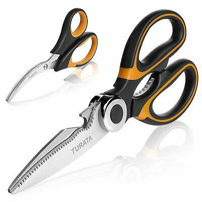 Turata Heavy Duty Kitchen Scissors Seafood Shears Set Stainless Steel Multi-Use