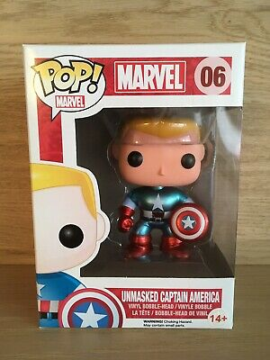 Funko Pop! Unmasked Captain America  #6 Vaulted (Exclusive Comikase 2014)