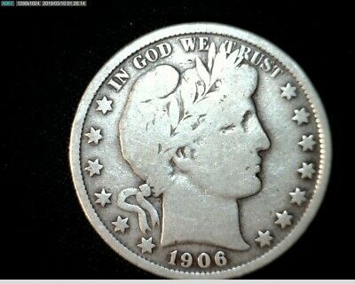 1906 P Silver Barber Half Dollar  Circulated   #J461