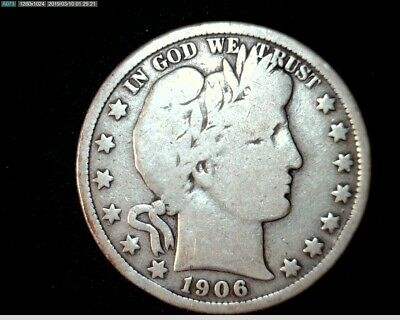 1906 D Silver Barber Half Dollar  Circulated   #J462