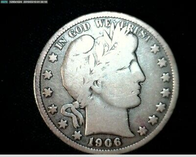 1906 O Silver Barber Half Dollar  Circulated   #J463
