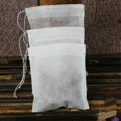 100Pcs Empty Tea Bags Teabags Herb Loose String Filter 5x7cm with Drawstring