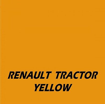 RENAULT TRACTOR YELLOW  Agricultural Tractor Machinery Enamel Gloss Paint