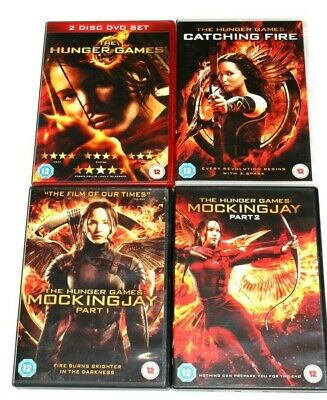 The Hunger Games Complete 4 Film Collection dvds