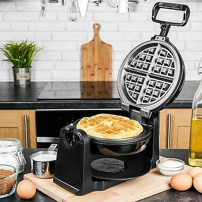 Waffle Maker Electric Iron Machine 4 Plate Waffles Cooker 180 Rotating