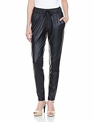 ADIDAS ORIGINALS GIRAFFE Tapered Track Pant Stretchy Leather Effect Leggings 14