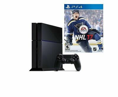 Sony PlayStation 4 Original PS4 500GB Jet Black Console NHL17 Game Bundle