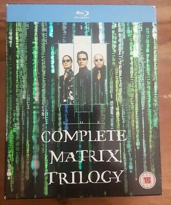 The Matrix/Matrix Reloaded/Matrix Revolutions (Blu-ray, 2008, 3-Disc Set, Box S…