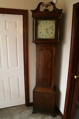 Antique longcase clock 18th century 30hr Edward Bates Kettering c 1764