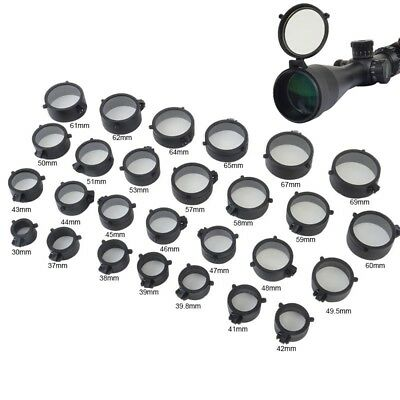 Scope Lens Caps Cover Flip Up Optics Eye Protector Lid for Rifle Scope Caliber