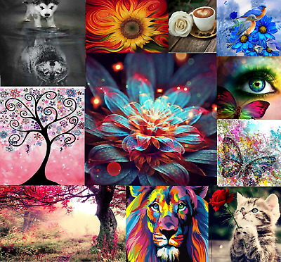 5D Diamond Painting Embroidery Beautiful Nature Cute Animals Classic Art Craft