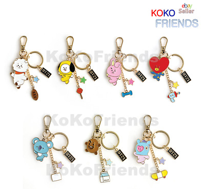 BTS BT21 Metal Key ring KeyRing / Keychain / Official KPOP Goods Authentic MD