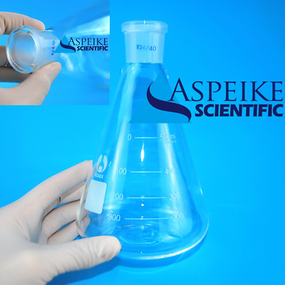 500ml,Lab Glassware Erlenmeyer Flask,Groud Joints 24/40,Lab Triangle flask A