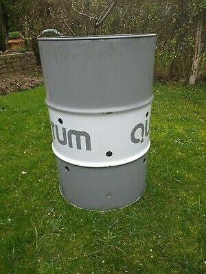 Oil drum incinerator (now with larger holes)
