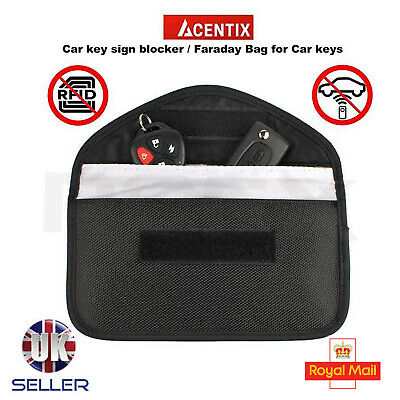 Genuine Car Keyless Entry Key Fob Signal Blocker UK Jammer Bag - Larger Version