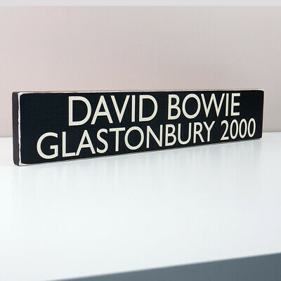 David Bowie Glastonbury 2000 Tour Sign Vintage Style Concert Plaque Festival
