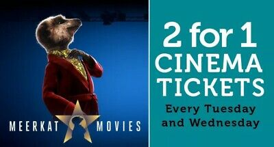 2 For 1 MEERKAT MOVIES CINEMA CODE VALID AT Showcase Vue Cineworld Odeon