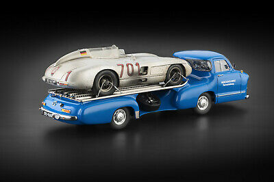 Mercedes-Benz Renntransporter + MB 300 SLR #701 Dirty Hero CMC M-163 1/18 NIB