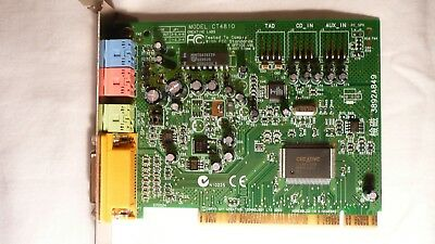 MODEL CT4810 SOUND CARD DRIVER