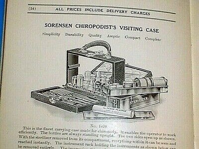 Antique 1922 Belmont Catalog Of Chiropody Remedies Instruments Supplies 63 Pgs