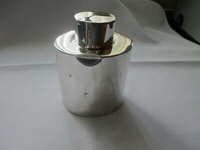 SCARCE SOLID SILVER VICTORIAN TEA-CADDY, W & C SISSONS, LONDON 1894  112gg
