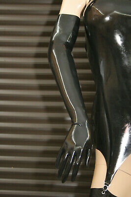 <> LATEXVERTRIEB <> Latex-Handschuhe lang, Shoulder-Gloves ( B-Ware )