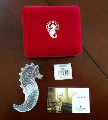Waterford Crystal ~ 2004 WATERFORD SOCIETY SEAHORSE HAND COOLER ~ NIB ~ PERFECT