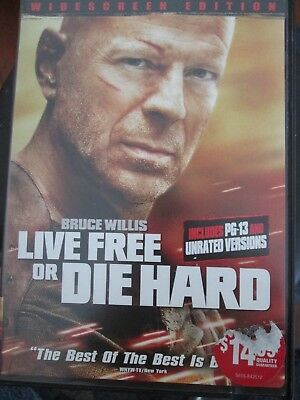 Die Hard 4: Live Free or Die Hard (DVD, 2007, Unrated Widescreen) Bruce Willis