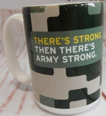 US Army Ceramic Camo Coffee Mug Army Strong  Made In USA Pre-Owned