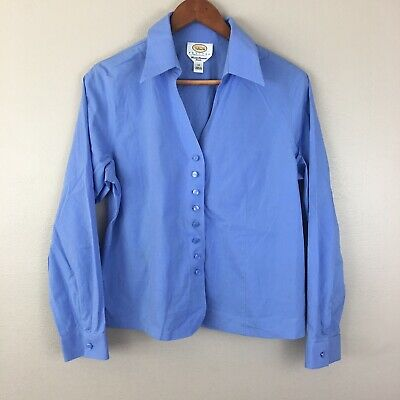 0a5a6f9cc Talbots Petites Womens Size 14 Periwinkle Career Business Long Sleeve Shirt