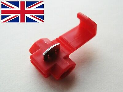 SCOTCH LOCK - QUICK CRIMP SPLICE CONNECTOR - RED - 0.5 to 1.0 mm² - 22-18 AWG UK