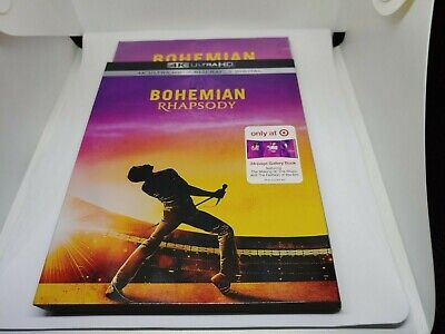 BOHEMIAN RHAPSODY 4K blu ray digital TARGET EXCLUSIVE new mint sealed free ship!