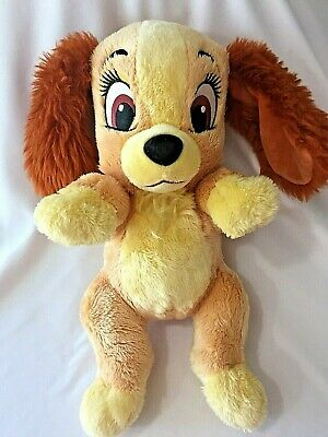 "Disneys Babies Lady Dog Puppy Plush Toy Stuffed Animal 12"" Lady and The Tramp"