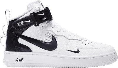 7d8401d3b3c NIKE AIR FORCE 1 One Mid LV8 Utility White Tour Yellow Black AV3803 ...