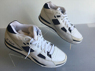 2956ca540b8 RARE VTG SNEAKERS Reebok G Unit GXT White   Navy Blue Shoes Sz 9 50 ...