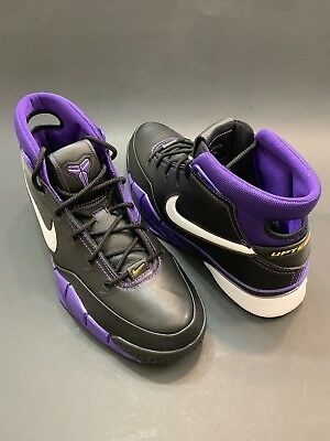 ba42dc83c6f8be NIKE KOBE 1 PROTRO  AQ2728 004  AD BLACK OUT PURPLE MAMBACURIAL LAKERS Sz 13