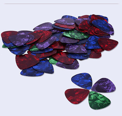15pcs Multicolor Acoustic Celluloid Electric Guitar Pick Picks Plectrum 0.46mm