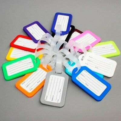 5Pcs Travel Luggage Bag Tag Name Address ID Label Plastic Suitcase Baggage Tags