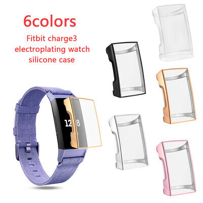 Watch Screen Protector TPU Case Protective Shell Cover For Fitbit Charge 3
