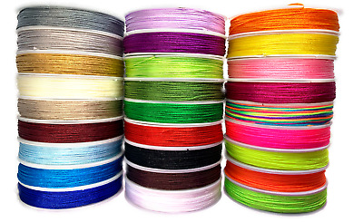 Reel of Nylon Cord Thread 0.8mm 1mm & 1.5mm Macrame Kumihimo Friendship Bracelet