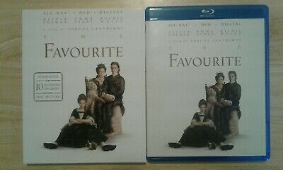 The Favourite (Blu-ray and DVD, 2019) 2 Disc set includes slipcover