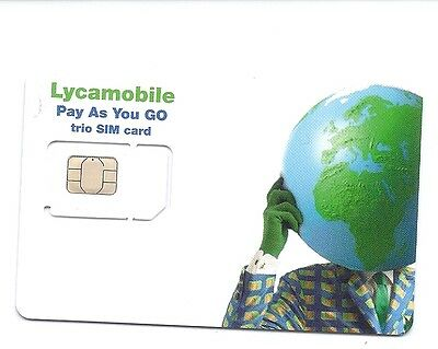 USA Lycamobile trio sim card with $10 credit   4G LTE   T-mobile USA network